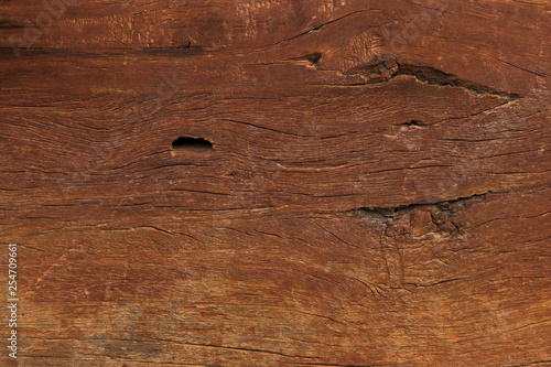 Fotografie, Obraz  Aged Solid Wood Slat Rustic Shabby Brown Background