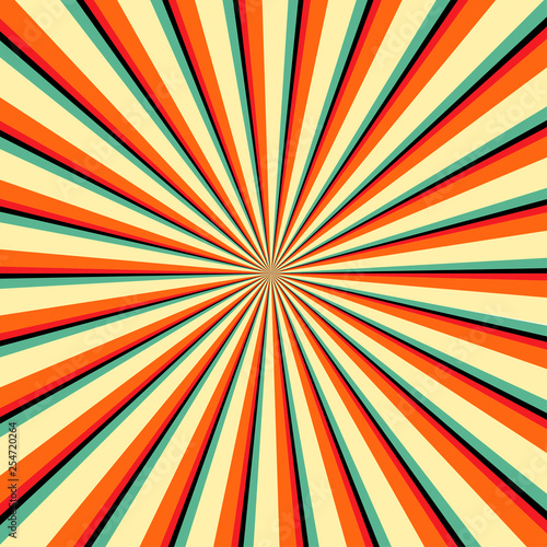 backgrounds ray or abstract sun rays. Sun Sunburst Pattern. Vector illustration. Abstract background of the shining sun-rays. Sun rays, Old paper with stains. Wall mural