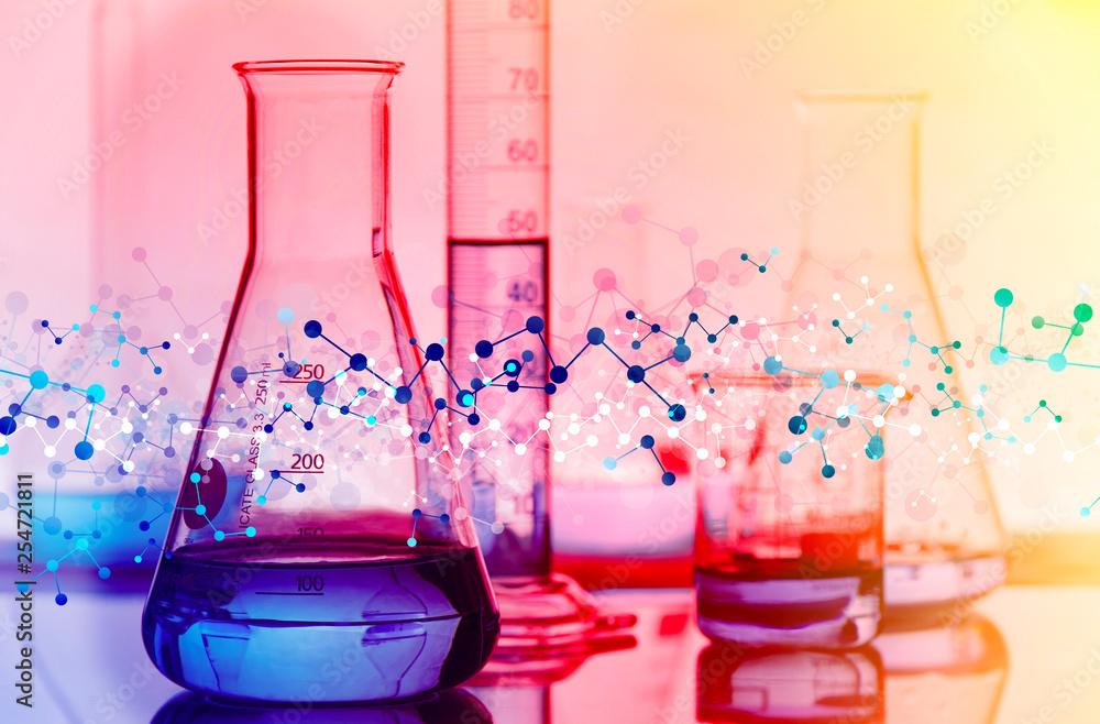 Fototapeta genetica, biologia, esperimento, particelle, molecole,