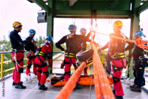 Fototapeta Rescue team.