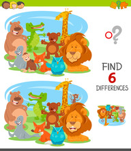 Find Differences Game With Car...