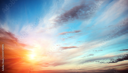 Poster de jardin Morning Glory Sunrise summer sky panorama