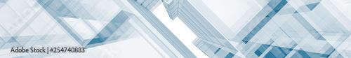 Fototapeta premium Streszczenie niebieski architektura renderowania 3d