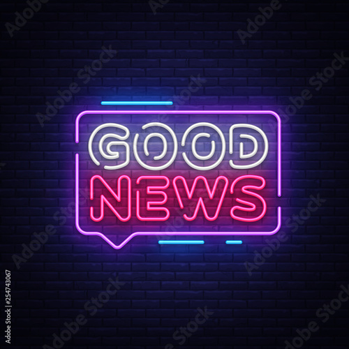 Valokuva Good News neon sign vector