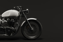 Caferacer Motorcycle On Clean Background Flatlay 3d Illustration