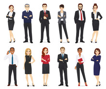 Business People, Office Workers Set Isolated Vector Illustration
