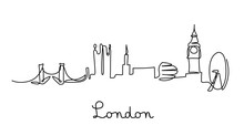 One Line Style London City Sky...