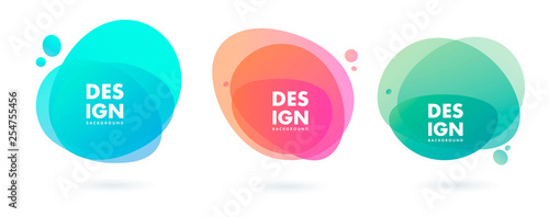 Set of abstract modern graphic elements. Dynamical colored forms and line. Gradient abstract banners with flowing liquid shapes. Template for the design of a logo, flyer or presentation. Vector. - fototapety na wymiar