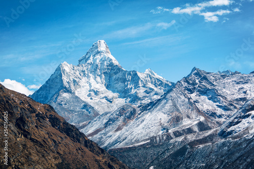 Everest trekking Canvas Print