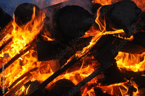 fire/ burning wood