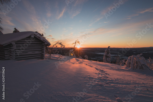 Photographie  sunrise in finnish Lapland