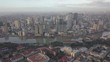 Aerial Towards skyline along Pasig riverManilaPhilippines