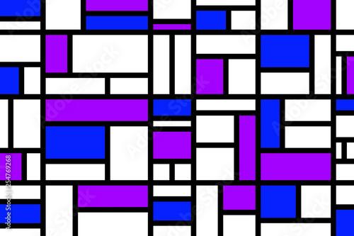 Valokuva  Abstract mosaic pattern grid with random colours