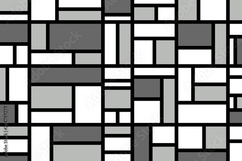 Photo  Abstract mosaic pattern grid with random colours
