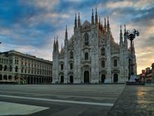 Italy, Milan, Milan Cathedral At Sunrise