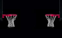 Pink Basket On Black Background