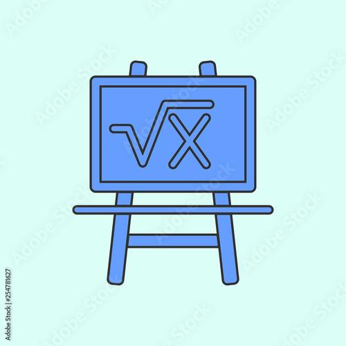 board with formula mono color icon  Simple color vector of education
