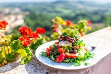 Closeup Of Olive Salad On Plat...