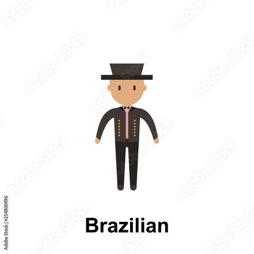 Foto  Brazilian, man cartoon icon