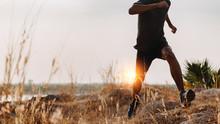 Image Of Athlete Trail Running...