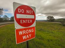 Do Not Enter Wrong Way Sign Us...