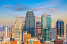 View Of Kansas City Skyline In...