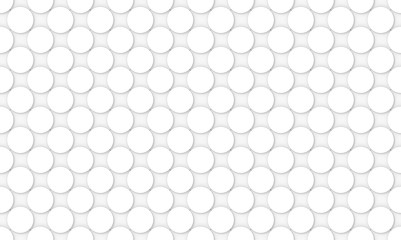 Fototapeta Minimalistyczny 3d rendering. seamless white convex round circular button shape pattern design wall background.