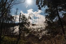 火山の蒸気