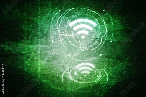 Photo  2d illustration WiFi symbol