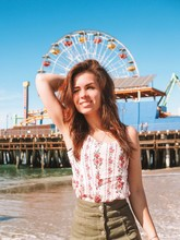 Brunette Girl With Long Hair A...