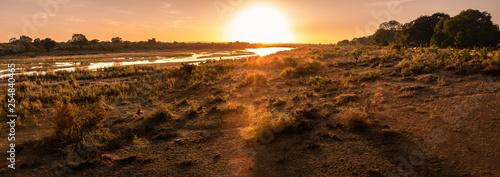 Beautiful Panorama sunset and sunrise at lower sabie camp,kruger national park, Wallpaper Mural