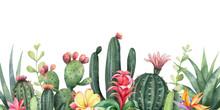 Watercolor Vector Banner Tropi...