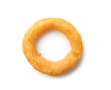 Tasty Onion Ring On White Background