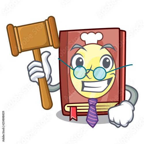 Fényképezés  Judge recipe book on the mascot shelf