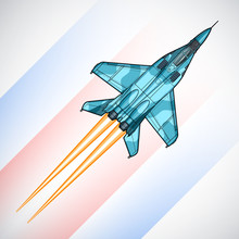 Modern Russian Jet Fighter Air...