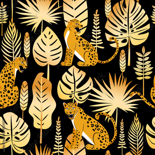 Leopard seamless pattern Wallpaper Mural