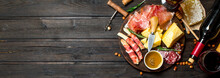Antipasto Background.Various M...