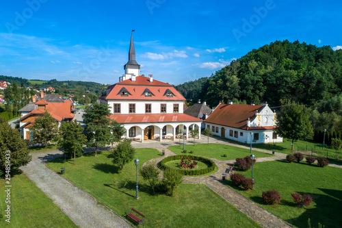 The Galician Town in Nowy Sącz aerial view - fototapety na wymiar