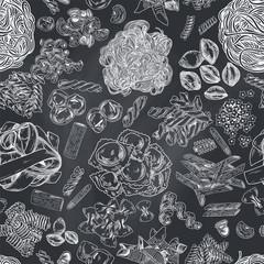 FototapetaHand drawn pasta seamless pattern
