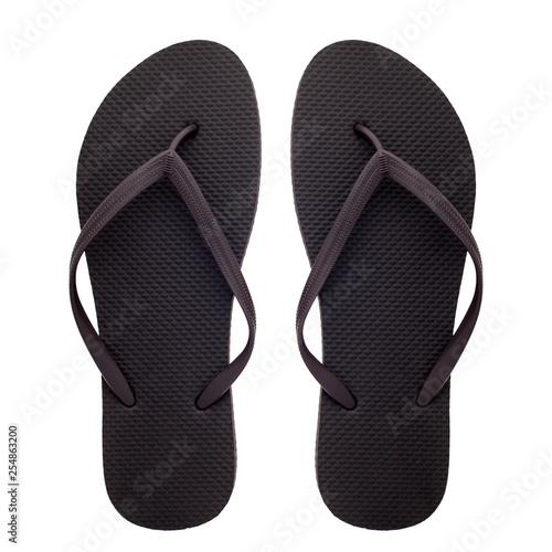Fotografia, Obraz  Rubber flip-flops isolated