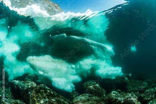 Fototapety, obrazy: Drift Ice, Underwater View