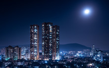 Mumbai Bathed In Moonlight