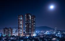 Mumbai Bathed In Moonlight