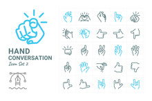 Hand Conversation Icon Collection