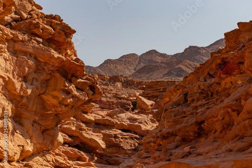 Fotografie, Obraz  Coloured Canyon is a rock formation on Sinai peninsula