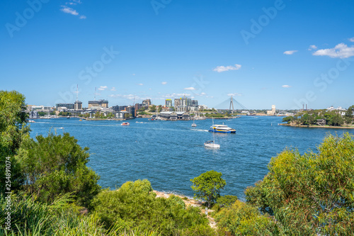 Canvas Prints New Zealand Sydney water view from Millers Point