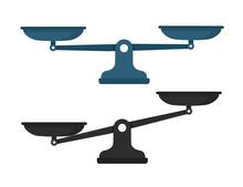 Scales, Flat Design, Vector Il...