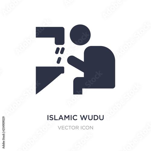Fényképezés islamic wudu icon on white background