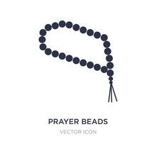 Prayer Beads Icon On White Background. Simple Element Illustration From Religion Concept.