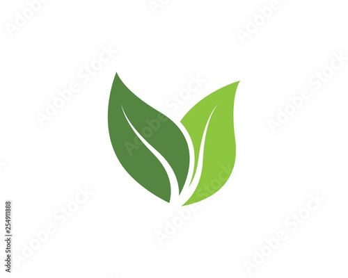 green leaf ecology nature vector icon Wall mural